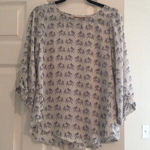 Flowy elephant shirt